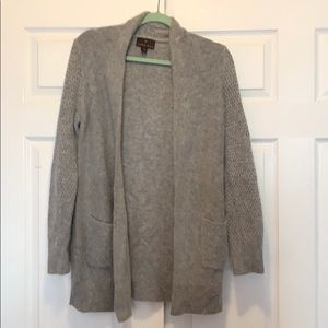 never worn! long cardigan with side pockets